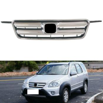ホンダ CRV グリル Front Grill Mesh Grille Chrome For Honda CRV 2002-2006 ホンダCRV 2002-2006用のフロントグリルメッシュグリルクローム