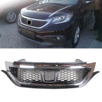 ホンダ CRV グリル Front Grill Grille Chrome Refit For Honda CRV 2012-2014 ホンダCRV 2012-2014用のフロントグリルグリルクローム修理