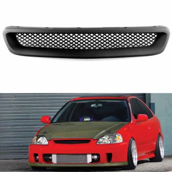 ホンダ シビック グリル ABS Front Honeycomb Mesh Bonnet Grille For Honda Civic 1999-2000 ホンダシビック1999-2000についてはABSフロントハニカムメッシュボンネットグリル