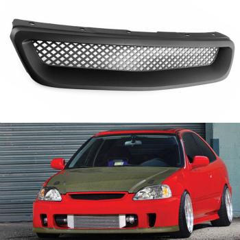 ホンダ シビック グリル R-Style For Honda Civic 1999-00 ABS Front Hood Honeycomb Grille Grill Vent Hole ホンダシビック1999年から1900年ABSフロントフードハニカムグリルグリルベントホールについてはR-スタイル