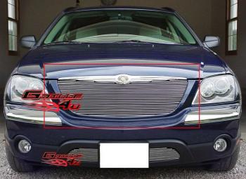 クライスラー グリル Fits Chrysler Pacifica Billet Grille Insert 04-06 クライスラーパシフィカビレットグリルが収まる挿入04-06