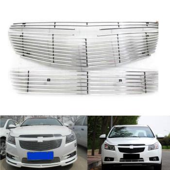 シボレー グリル For Chevrolet Cruze 2009-2014 3PCS Front Mesh Grill Grille Horizontal stripes シボレークルーズのための2009-2014 3PCSフロントメッシュグリルグリル水平ストライプ