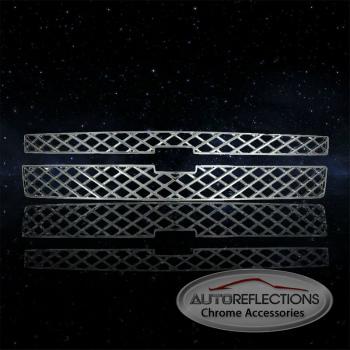 シボレー グリル Auto Reflections Chrome ABS Grille Insert for 2011-2014 Chevrolet Silverado 2500 2011-2014シボレーシルバラード2500の自動リフレクションズクロームABSグリルインサート