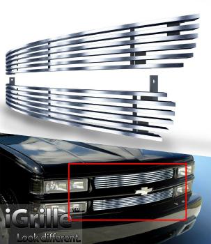 シボレー グリル Billet Grille Stainless Steel 304 Fit 99-02 Chevy Silverado 1500/Tahoe/Suburban ビレットグリルステンレス鋼304フィット99-02シボレーシルバラード1500 /タホ/サバーバン
