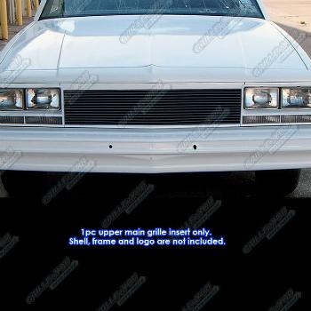 シボレー グリル Fits 1982-1987 Chevy EL Camino/ 82-83 Malibu Black Billet Grille Insert 1982-1987シボレーELカミノ/ 82-83マリブブラックビレットグリルインサートに適合
