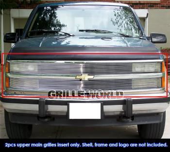 シボレー グリル 88-93 Chevy C/K Pickup /92-93 Suburban/Blazer Phantom Billet Grille Grill Insert 88-93シボレーC / Kピックアップ/ 92-93サバーバン/ブレザーファントムビレットグリルグリルインサート