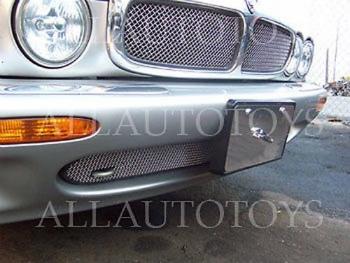 ジャガー グリル Jaguar XJ6 XJR Upper Mesh Grille Inserts Factory Style Chrome or Black 1995-1997 ジャガーXJ6 XJRアッパーメッシュグリルインサートファクトリースタイルクロームまたはブラック1995から1997