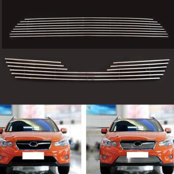 スバル XV グリル Front Upper+Lower Grille Grill Metal For Subaru XV 2011-2016 スバルXV 2011-2016のフロントアッパー+下部グリルグリルメタル
