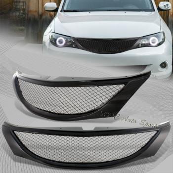 スバル インプレッサ グリル For 2008-2010 Subaru Impreza WRX JDM Front Hood Carbon Style Mesh Grill Grille 2008-2010のためのスバルインプレッサWRX JDMフロントフードカーボンスタイルメッシュグリルグリル