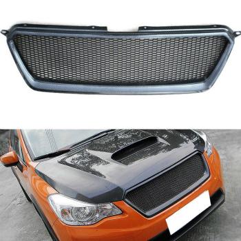 スバル XV グリル Carbon Fiber Front Grille Hood Grill Fit For Subaru XV 2011-2016 スバルXV 2011-2016のためにカーボンファイバーフロントグリルフードグリルフィット