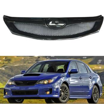 スバル インプレッサ グリル High Quality Carbon Fiber For Subaru Impreza 10th 08-12 Front Grille Grill Refit スバルインプレッサ10日8月12日フロントグリルグリル修理のための高品質カーボンファイバー