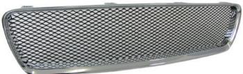 ボルボ グリル Chrome finish front grill sports radiator grille with mesh for Volvo S60 00-04 ボルボS60 00から04のためのメッシュフロントグリルスポーツラジエターグリルを終えるクローム