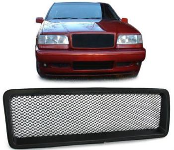 ボルボ グリル Black finish front grill sports radiator grille with mesh for Volvo 840 850 ボルボ840 850用のメッシュとブラック仕上げのフロントグリルスポーツラジエーターグリル