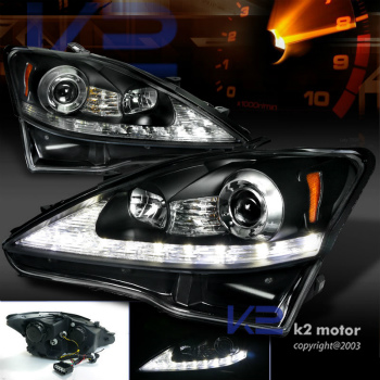 01-05 Lexus IS300 Smoke Lens Tinted ヘッドライト IS300