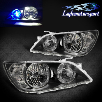 レクサス ヘッドライト 2001 2002 2003 2004 2005 Lexus IS300 Black Factory Factory Style HeadLights Pair 2001 2002 2003 2004 2005レクサスIS300ブラックファクトリーファクトリースタイルヘッドライトペア