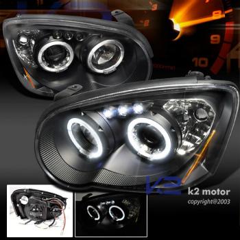 スバル インプレッサ ヘッドライト 2004-2005 Subaru Impreza WRX STi Rs Outback LED Projector Headlights Black 2004-2005スバルインプレッサWRX STIルピーアウトバックLEDプロジェクターヘッドライトブラック