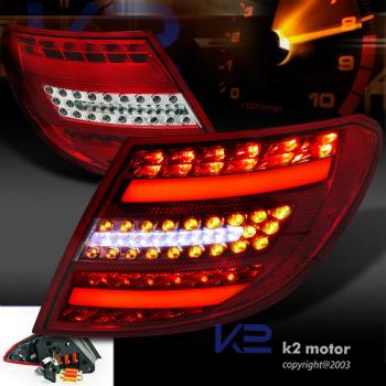 ベンツ テールライト Euro Red 08-11 Benz C300 C350 AMG W204 LED Light Bar Tail Brake Lamps ユーロレッド08-11ベンツC300 C350 AMG W204 LEDライトバーテールブレーキランプ