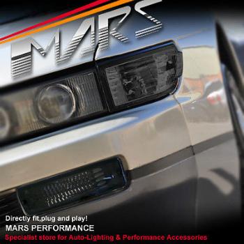 日産 シルビア ヘッドライト SMK Side Corner Parker Bumper Turn Signal Indicator Lights for Nissan Silvia S13 SMKサイドコーナーパーカーバンパーは日産シルビアS13のためのシグナルインジケータライトをオンにします