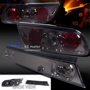 日産 シルビア テールライト Silvia Hatch S13 Hatchback Smoke Lens 3Pc Tail Lights JDM For 89-94 Nissan 240SX シルビアハッチS13ハッチバックは89-94日産240SX用のレンズ3PCテールライトJDMスモーク