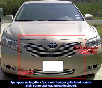 トヨタ カムリ グリル Fits Toyota Camry LE Billet Grille Combo 07-09 トヨタカムリLEビレットグリルコンボが収まる07-09