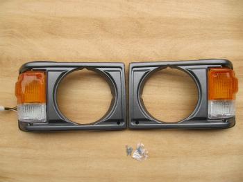 トヨタ ランクル グリル TOYOTA LAND CRUISER FJ60 LIGHT CASE ASSEMBLY WITH CORNER LAMP 1981-87 A pair コーナーランプ1981から87対トヨタランドクルーザーFJ60 LIGHT CASE ASSEMBLY