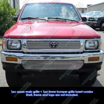 トヨタ ピックアップトラック グリル Fits 92-95 Toyota Pickup Truck 4WD Billet Grille Combo 92-95トヨタのピックアップトラック4WDビレットグリルコンボフィット