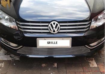 フォルクスワーゲン グリル for 2011-2015 Volkswagen New Passat front hood billet grille horizontal style 2011-2015フォルクスワーゲンニューパサートフロントフードビレットグリル、水平スタイルに