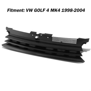 フォルクスワーゲン グリル New Black ABS Front Bumper Grille Grill Hood for VW Volkswagen GOLF 4 MK4 98-04 VWフォルクスワーゲンゴルフ4 MK4 98から04のための新しい黒のABSフロントバンパーグリルグリルフード