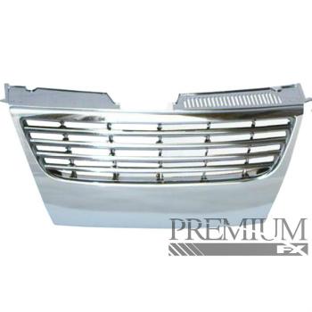 フォルクスワーゲン グリル Premium FX Chrome ABS Billet Replacement Grille for 2006-2010 Volkswagen Passat 2006-2010フォルクスワーゲンパサートのためのプレミアムFXクロームABSビレットの交換グリル