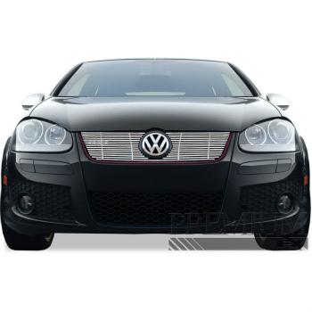 フォルクスワーゲン グリル Premium FX 2pc Chrome Top Billet Grille Insert for 2006-2009 Volkswagen GTI プレミアムFX 2PCクローム2006から2009年のフォルクスワーゲンGTIのトップビレットグリルインサート