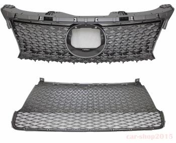 レクサス グリル Lexus CT200h CT 200h 2014-2016 Front Upper+Lower Grille F Sport Style レクサスCT200h CT 200H 2014年から2016年のフロントアッパー+下部グリルFスポーツスタイル
