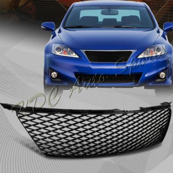 レクサス グリル For 2006-2008 Lexus IS250 IS350 Black ABS Plastic Mesh Front Hood Bumper Grille 2006-2008のためのレクサスIS250 IS350ブラックABSプラスチックメッシュフロントフードバンパーグリル