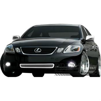 レクサス グリル Premium FX Chrome Bumper Bezel Woven Mesh Grille Insert for 2006-2007 Lexus GS プレミアムFXクローム2006-2007レクサスGS用バンパーベゼル織メッシュグリルインサート