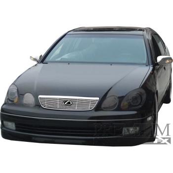 レクサス グリル Premium FX 1pc Chrome Top Billet Grille Insert for 1998-2000 Lexus GS300 プレミアムFX 1個Chromeの1998年から2000年レクサスGS300のトップビレットグリルインサート