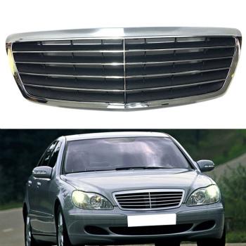 ベンツ グリル High Quality Front Hood Grill Grille For Mercedes-Benz CLASS S/W220 2002-2005 高品質のフロントフードグリルグリルのためにメルセデス・ベンツSクラス/ W220 2002年から2005年