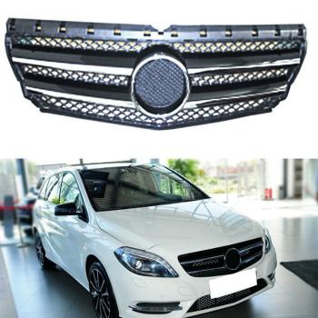 ベンツ グリル High Quality Chrome For Mercedes-Benz B CLASS/W246 09-15 Front Grill Grille Mesh 高品質Chromeのメルセデス・ベンツBクラス/ W246 9月15日フロントグリルグリルメッシュ