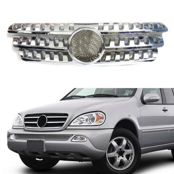 ベンツ グリル For Benz ML W163 ML350 ML500 ML400 ML320 1998-2004 Silvery Front Vent Grille ベンツML W163 ML350 ML500 ML400 ML320 1998から2004銀色のフロントベントグリルのための