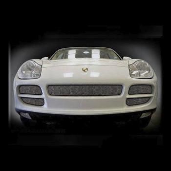 ポルシェ グリル Porsche Cayenne Mesh Grille Kit Grill 03-2006 Black & Chrome available 5 Pcs kit ポルシェカイエンメッシュグリルキットグリル03から2006ブラック&クローム利用できる5個のキット