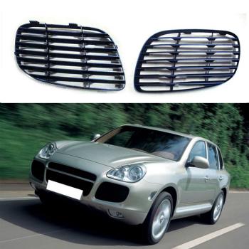 ポルシェ グリル For Porsche Cayenne 4.5T 2003-2006 2PCS Car Grill Auto Decorative Trims ポルシェカイエン4.5T 2003から2006 2PCS車のグリルの自動装飾トリムのために