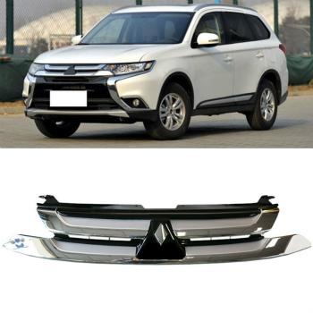 三菱 アウトランダー グリル For Mitsubishi Outlander 2016 Front Vent Grill grille Chrome Trim Replace 三菱アウトランダーのための2016のフロントベントグリルグリルクロームトリムを取り付けます