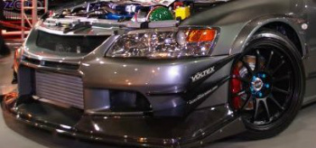 三菱 エボリューション グリル Voltex B Style Front Canards Mitsubishi Evo lancer evolution 7 8 Oem Bumper ボルテックスBスタイルフロントカナーズ三菱エボのランサーエボリューション7 8のOemバンパー
