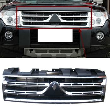 三菱 パジェロ グリル For Mitsubishi pajero V87 V93 V97 2009-2012 Grill Front Grille Chrome Vent Grid 三菱パジェロV87のV93のV97 2009から2012グリルフロントグリルクロームベントグリッドの