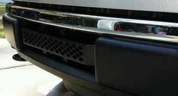 フォード グリル Lower Grille Bar 2009-2014 Ford Small Diamond Powder Coated Black Stainless ブラックステンレスコーティングされた下部グリルバー2009-2014フォード小さなダイヤモンドパウダー