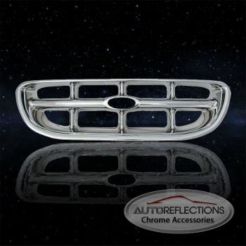 フォード グリル Auto Reflections Chrome ABS Grille Overlay for 1998-2001 Ford Explorer 1998-2001フォードエクスプローラーの自動リフレクションズクロームABSグリルオーバーレイ