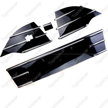 フォード グリル Front Bumper Lower Grille + Triangle Grills Kits For Ford Escape Kuga 2013-2016 久我2013-2016エスケープフォードについてはフロントバンパー下部グリル+トライアングルグリルキット