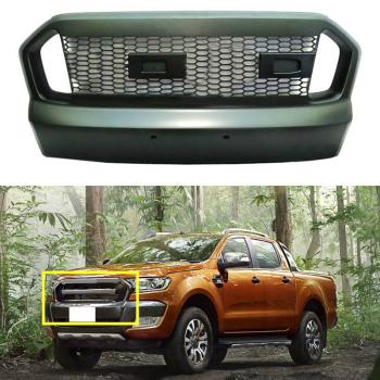 フォード グリル For Ford Ranger 2015-2016 Black front grille vent replace trim フォードレンジャー2015-2016ブラックフロントグリルベントのためのトリムを交換