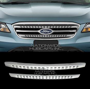 フォード グリル 10 11 12 Ford Taurus CHROME Snap On Grille Overlay Bar Grill Covers Trim Inserts フォードトーラスCHROMEスナップオングリルオーバーレイバーグリルトリムインサートをカバー10 11 12