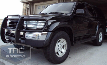 トヨタ 4RUNNER グリルガード 1996-1998 Toyota 4Runner Brush Guard Grill Guard Black Powder Coat 1996-1998トヨタ・ハイラックスサーフブラシガードグリルガードブラックパウダーコート