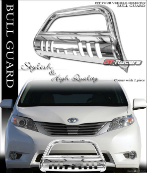 トヨタ SIENNA グリルガード FOR 2011-2016 TOYOTA SIENNA CHROME BULL BAR BRUSH PUSH BUMPER GRILL GRILLE GUARD 2011-2016 TOYOTA SIENNA CHROME BULLのBARブラシPUSH BUMPER GRILLグリルGUARD FOR