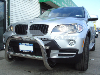 BMW BMW グリルガード T-304 07-10 BMW X5 FRONT BULL BAR BUMPER GRILL PROTECTOR GUARD S/S T-304 07-10 BMW X5 FRONT BULL BAR BUMPER GRILLプロテクターガードS / S